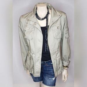 Blanc Noir Gray Utility Jacket SZ XL